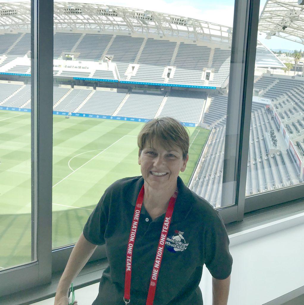 Patty La Bella host of Women's World Football Show