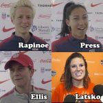 Megan Rapinoe, Christen Press, Alex Morgan, Veronica Latsko, Jill Ellis, USWNT