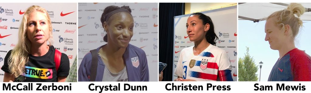 USWNT, Christen Press, McCall Zerboni, Crystal Dunn soccer podcast