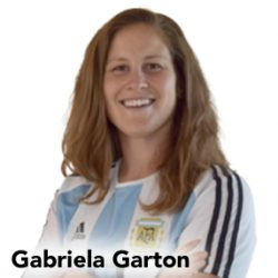 Gabriela Garton in Argentina jersey on Women's World Football Show