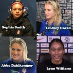 Sophia Smith, Lindsey Horan, Abby Dahlkemper, Lynn Williams